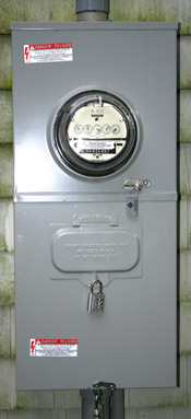 Home Electric Meter with Disconnect