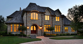 Beautiful large home with nice lighting